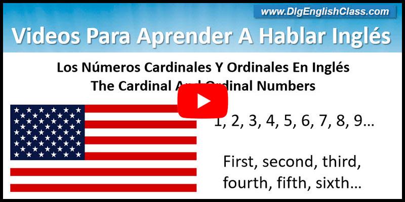 Números Cardinales Y Ordinales En Inglés