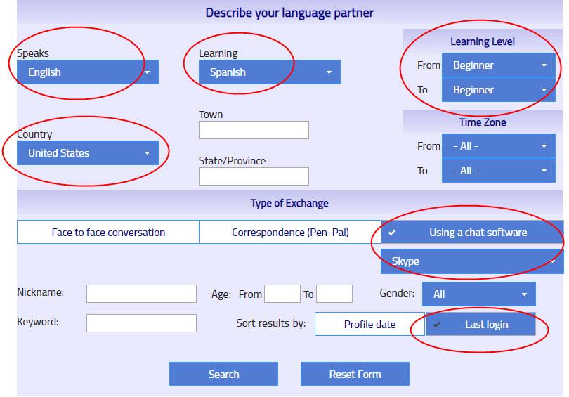 practicar hablar inglés con hablantes nativos