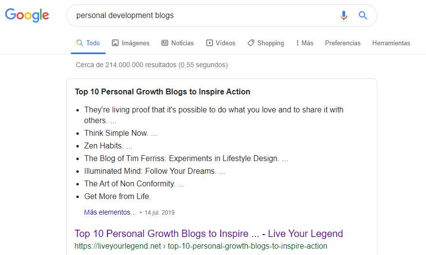 Blogs de desarrollo personal